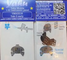 Yahu Models YMA3218 1/32 PE Yakovlev Yak-3 early instrument panel Special Hobby